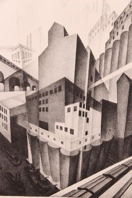 Louis Lozowick 1925 lithograph Minneapolis - 4