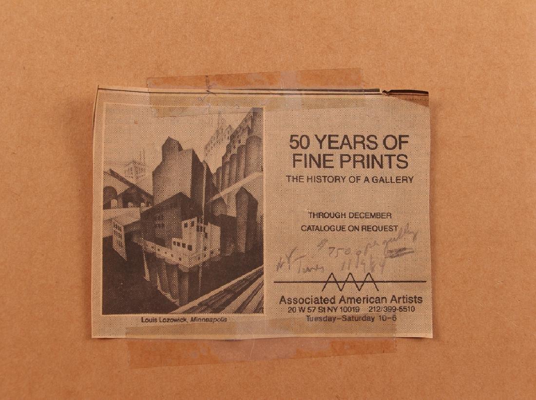 Louis Lozowick 1925 lithograph Minneapolis - 8
