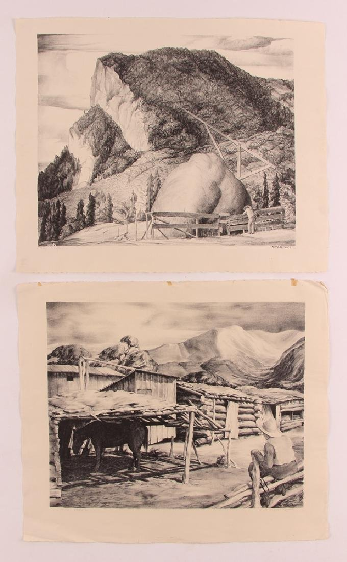 2 Wilfred Readio 1950's Colorado lithographs