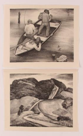 2  Wilfred Readio lithos Quiet Water #1 & Over The