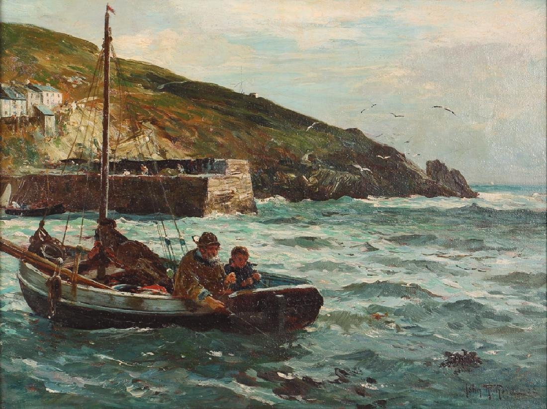John R Reid Seascape Oil on Canvas