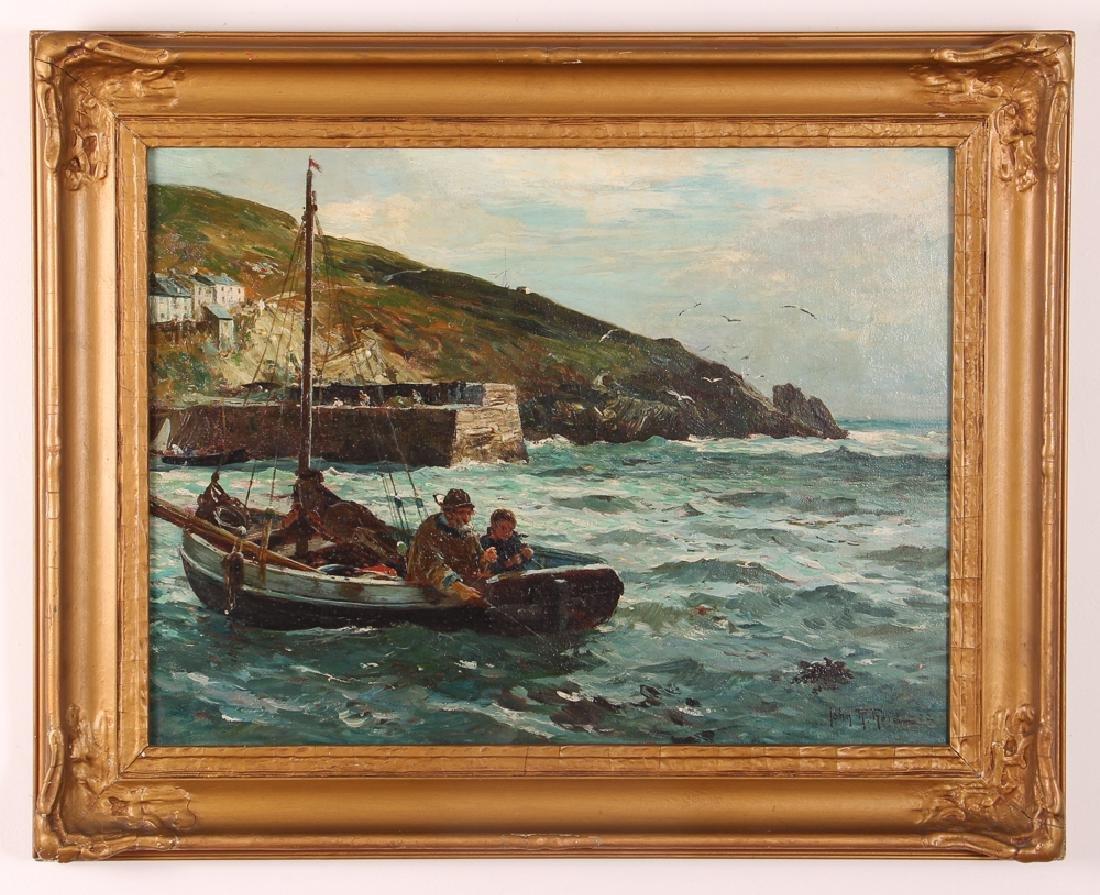 John R Reid Seascape Oil on Canvas - 2