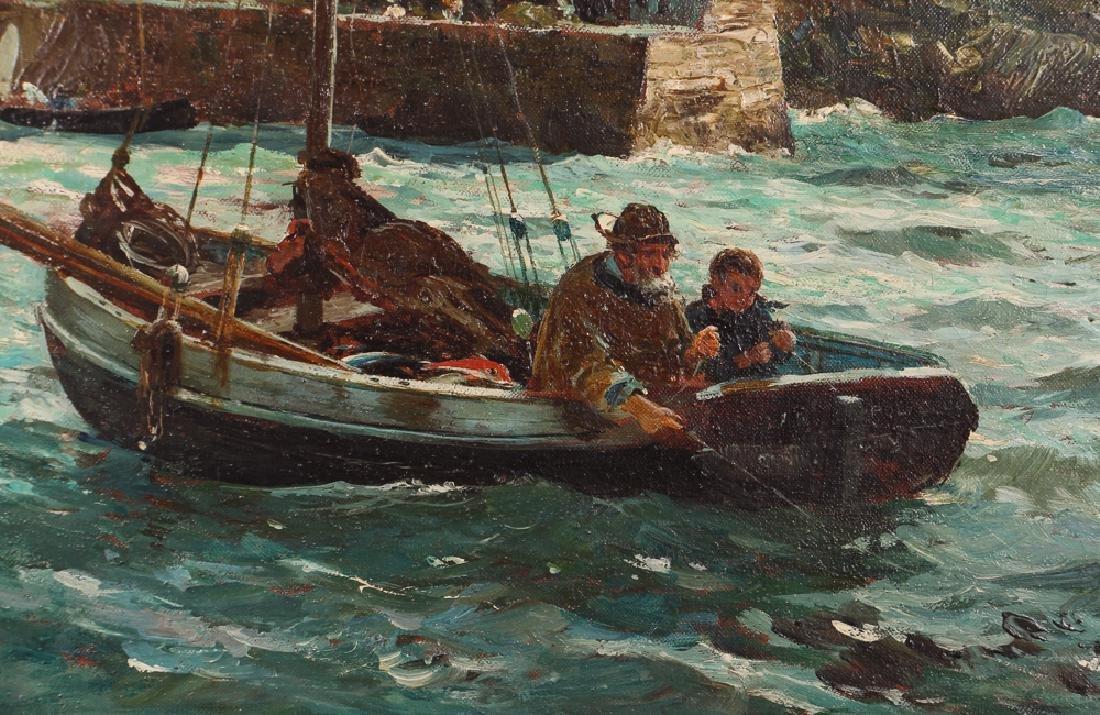 John R Reid Seascape Oil on Canvas - 4