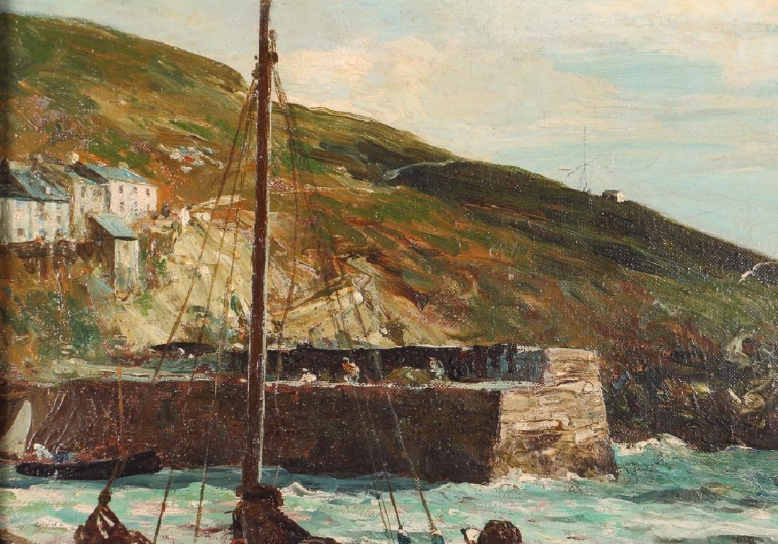 John R Reid Seascape Oil on Canvas - 5