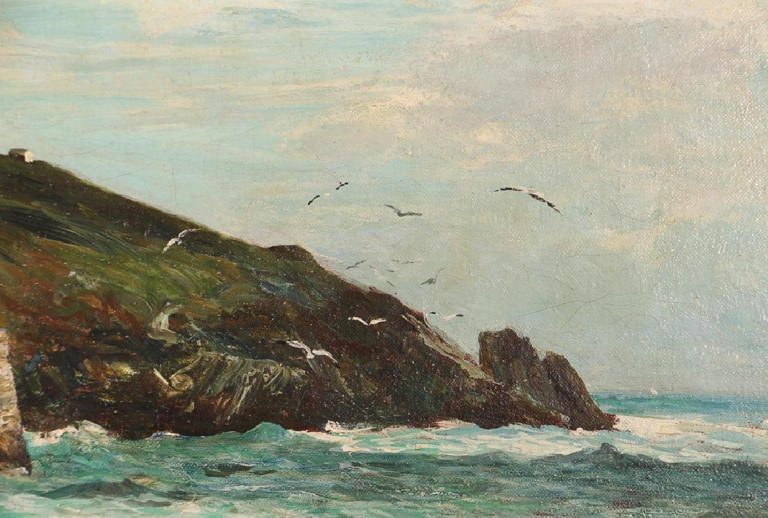 John R Reid Seascape Oil on Canvas - 6