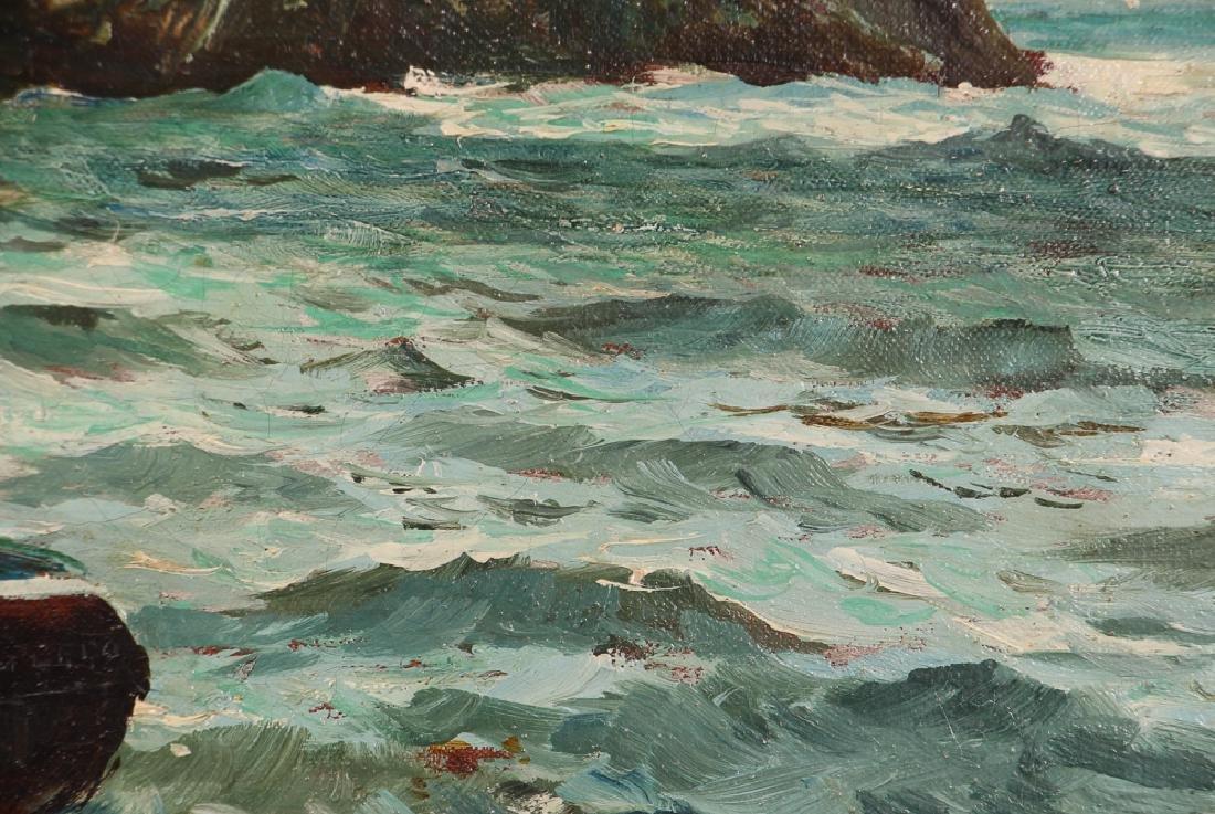 John R Reid Seascape Oil on Canvas - 7