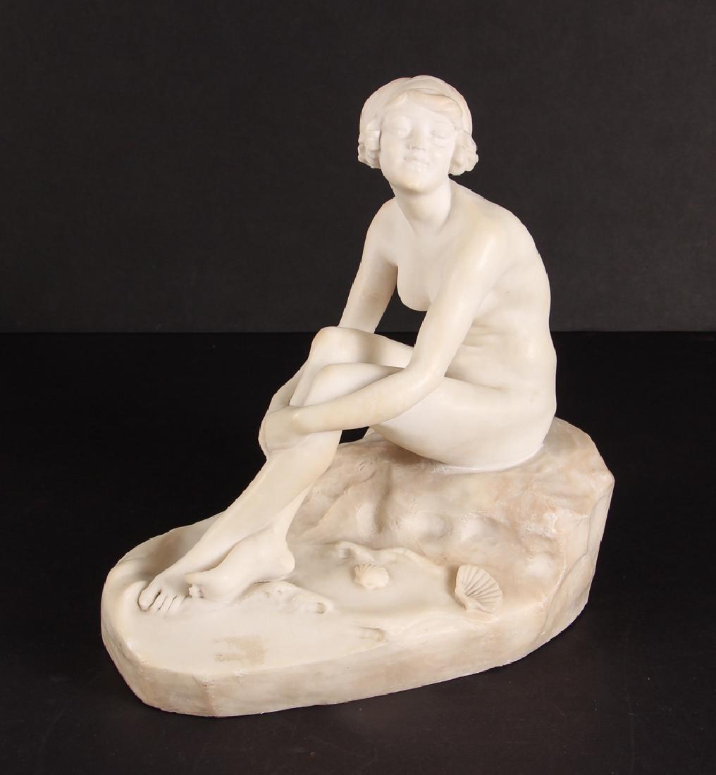 Fernando Vichi Seated Nude Sculpture