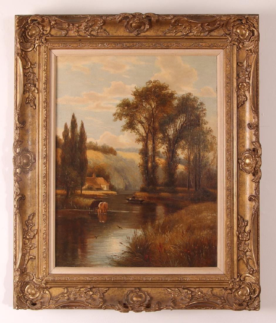 Pair Charles Vickers Rural Scene Oil Paintings - 2