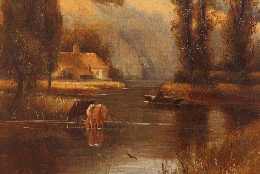 Pair Charles Vickers Rural Scene Oil Paintings - 3