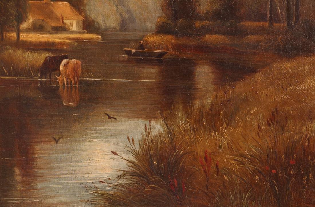 Pair Charles Vickers Rural Scene Oil Paintings - 4