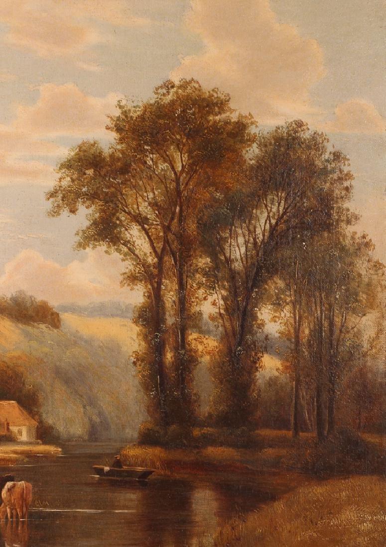 Pair Charles Vickers Rural Scene Oil Paintings - 5