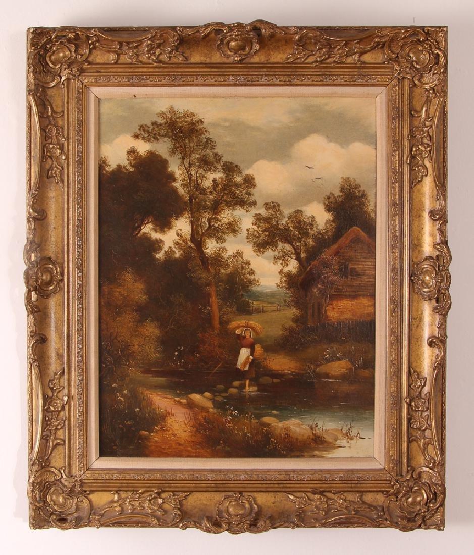 Pair Charles Vickers Rural Scene Oil Paintings - 6