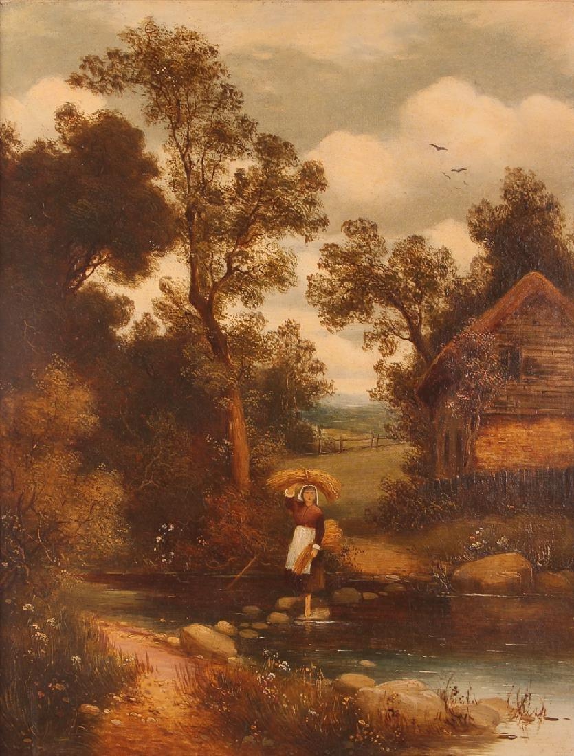 Pair Charles Vickers Rural Scene Oil Paintings - 7