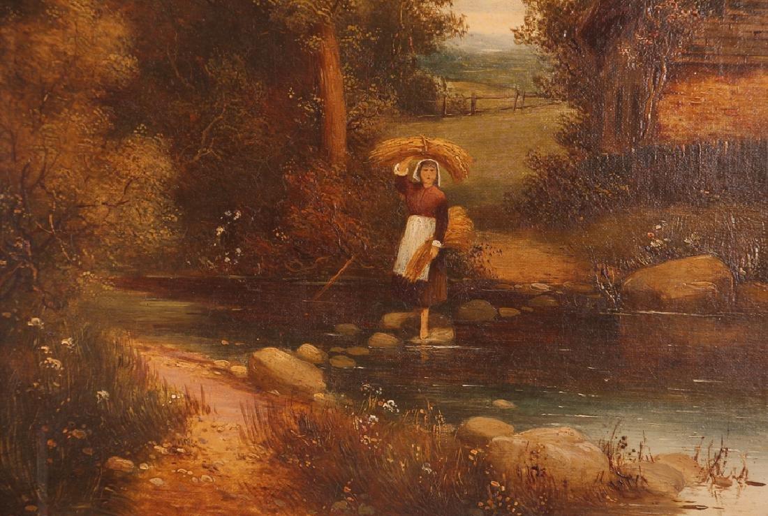 Pair Charles Vickers Rural Scene Oil Paintings - 8