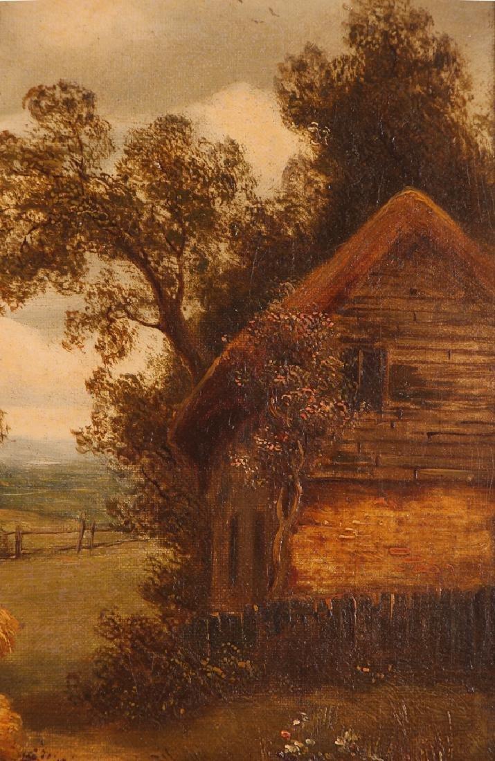Pair Charles Vickers Rural Scene Oil Paintings - 9