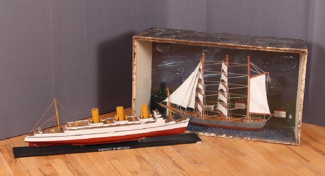 Folk Art Ship Model and Diorama