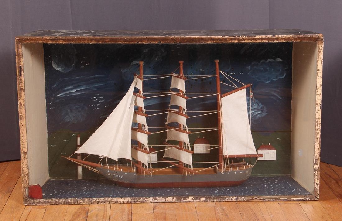 Folk Art Ship Model and Diorama - 2