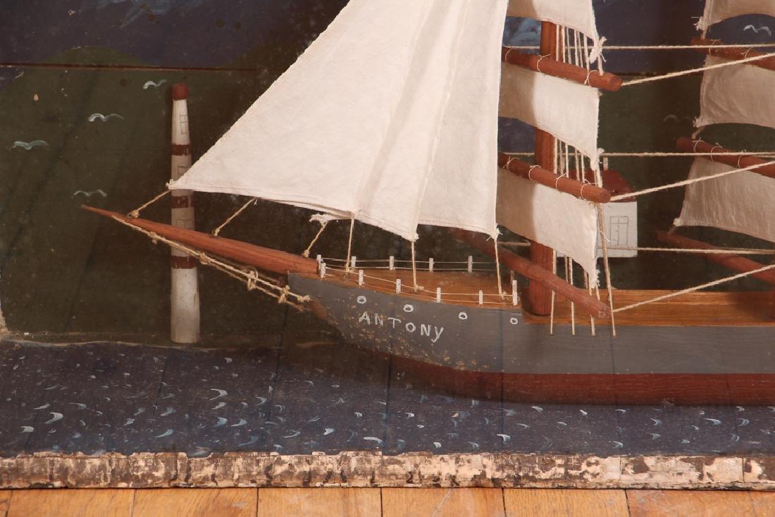 Folk Art Ship Model and Diorama - 3