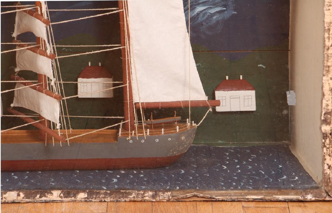 Folk Art Ship Model and Diorama - 4