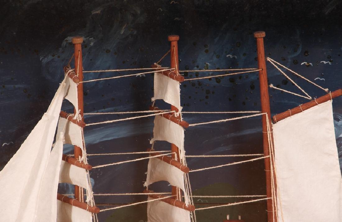 Folk Art Ship Model and Diorama - 5