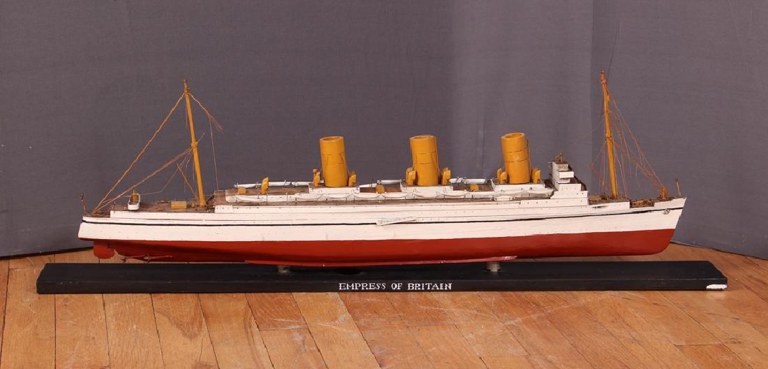 Folk Art Ship Model and Diorama - 7
