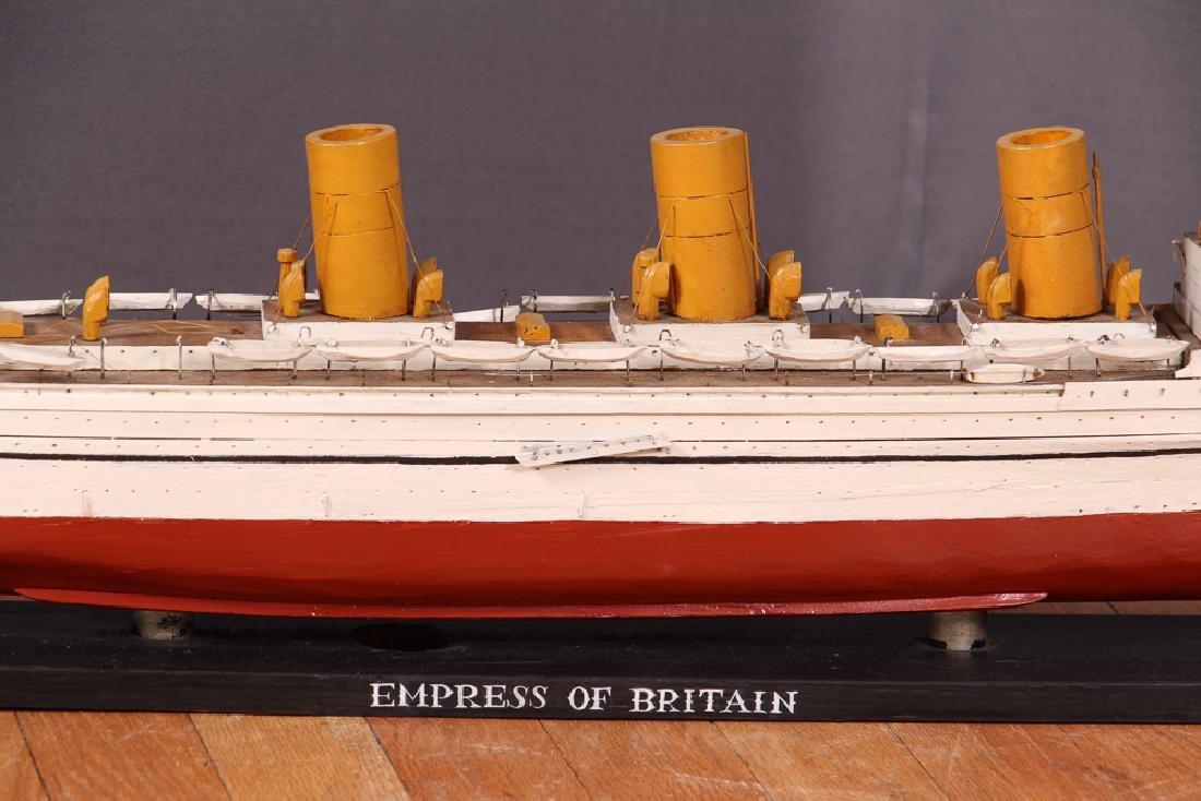Folk Art Ship Model and Diorama - 8
