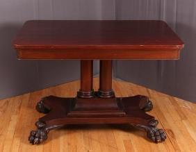 Empire Style Antique Mahogany Library Table