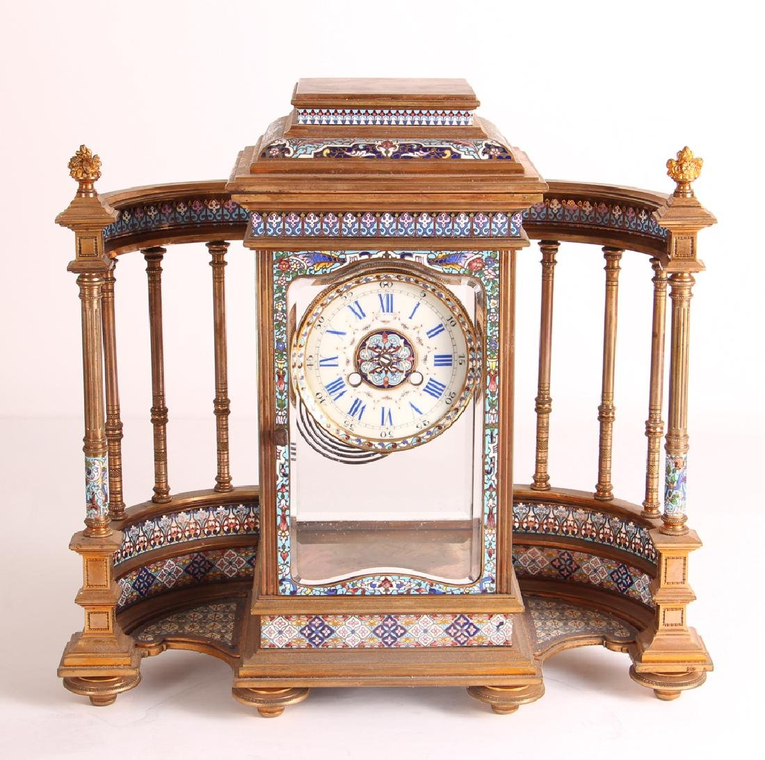 Tiffany and Company Cloisonne Clock Case Only