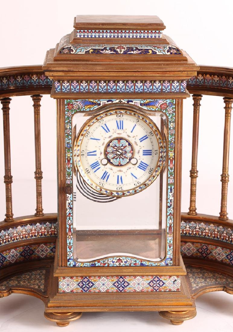 Tiffany and Company Cloisonne Clock Case Only - 2