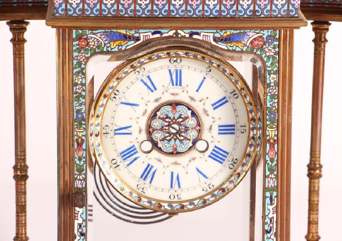 Tiffany and Company Cloisonne Clock Case Only - 3