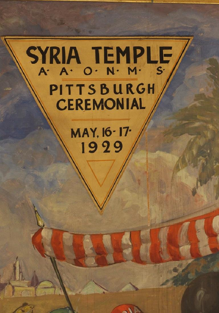 Syria Temple Pittsburgh Masonic Painting - 2