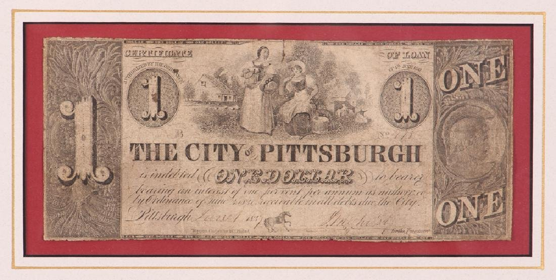 Pittsburgh Obsolete One Dollar Note