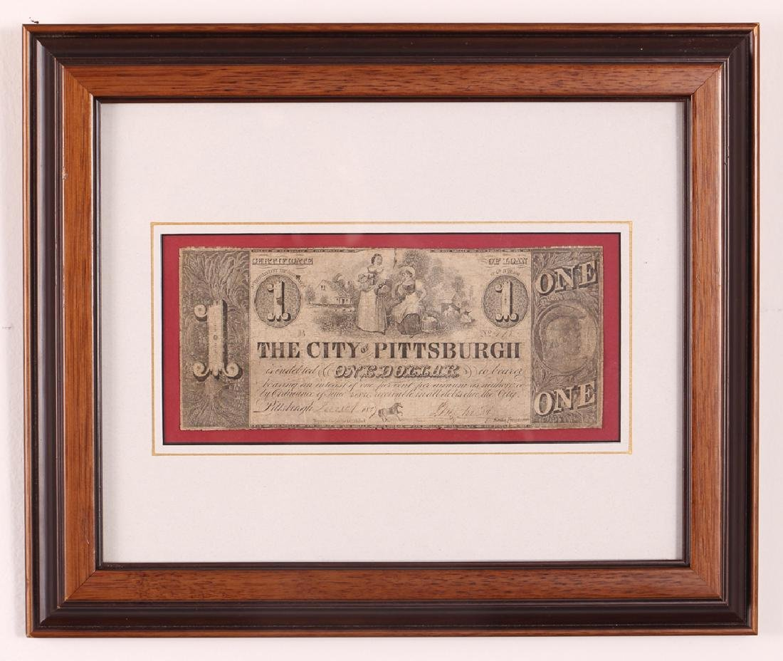 Pittsburgh Obsolete One Dollar Note - 2