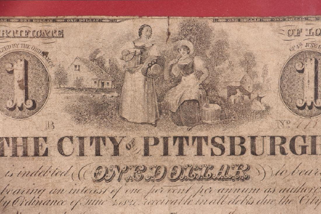 Pittsburgh Obsolete One Dollar Note - 3