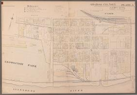Early 1900's Pittsburgh North Shore Plot Map Allegheny