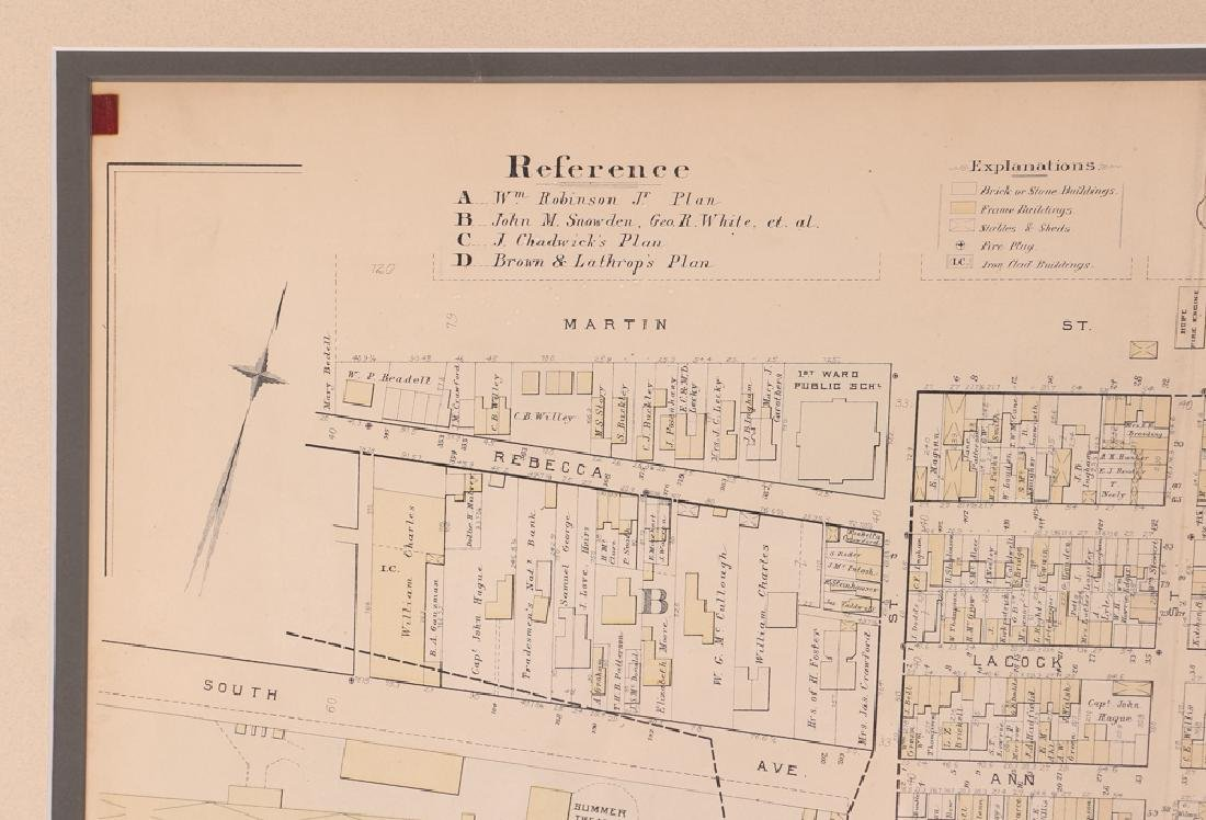 Early 1900's Pittsburgh North Shore Plot Map Allegheny - 5