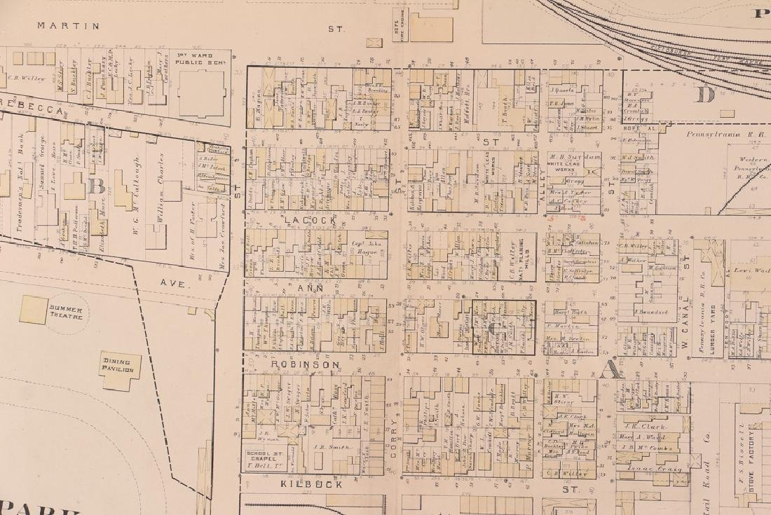 Early 1900's Pittsburgh North Shore Plot Map Allegheny - 7