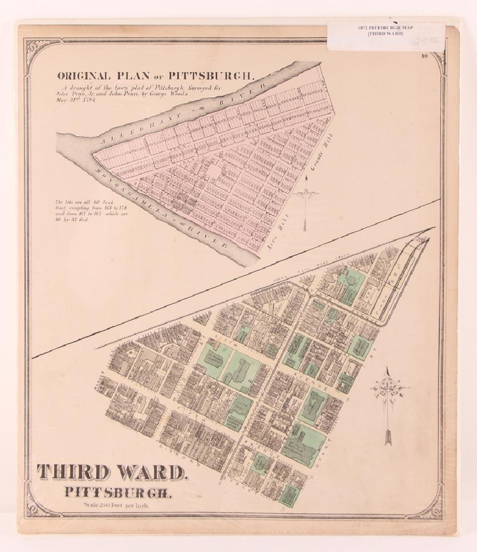 Pittsburgh Point 1872 Third Ward Plot Map