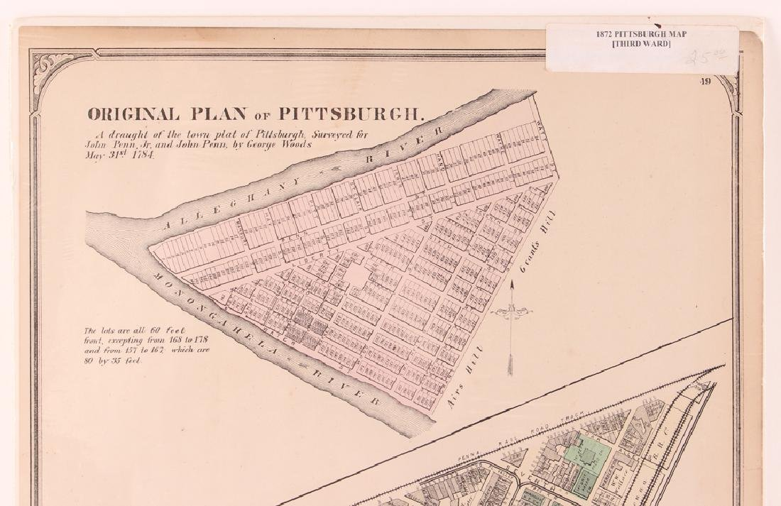 Pittsburgh Point 1872 Third Ward Plot Map - 2