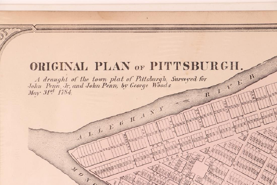 Pittsburgh Point 1872 Third Ward Plot Map - 3