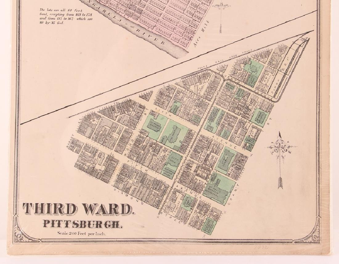 Pittsburgh Point 1872 Third Ward Plot Map - 5