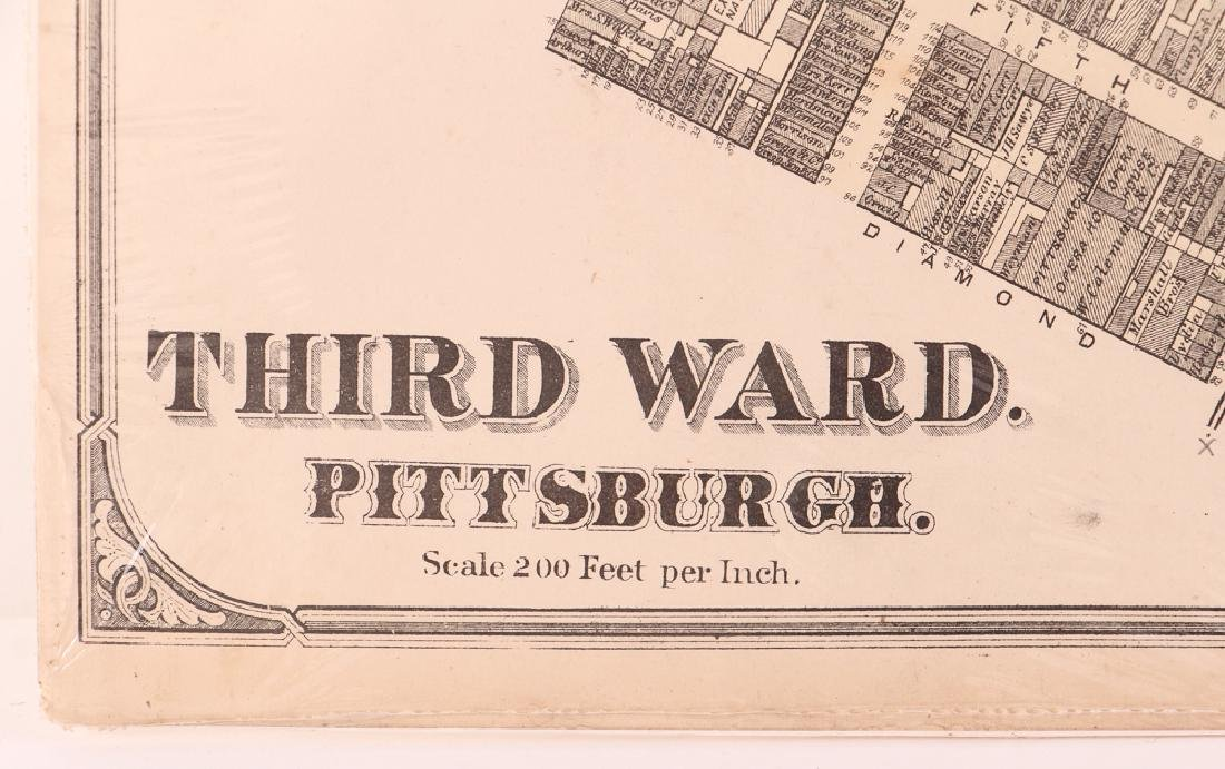 Pittsburgh Point 1872 Third Ward Plot Map - 6
