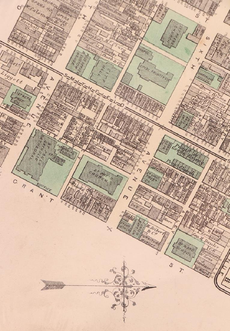 Pittsburgh Point 1872 Third Ward Plot Map - 7