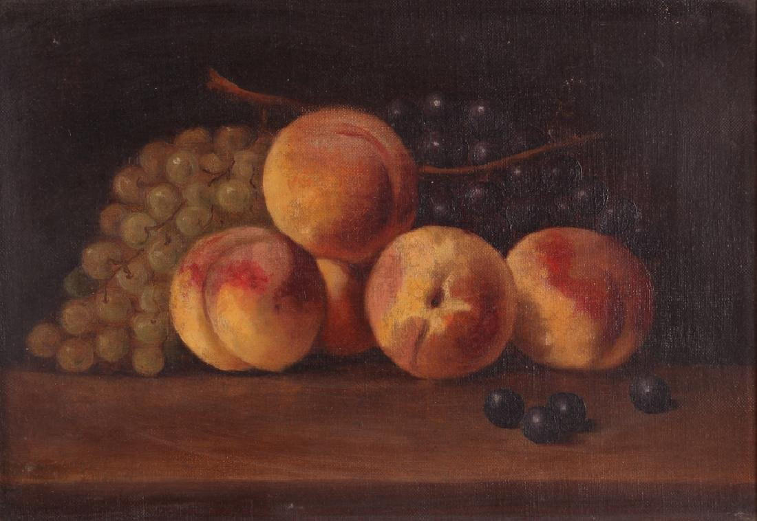 Attrib. A. F. King Still Life with Nectarines Painting