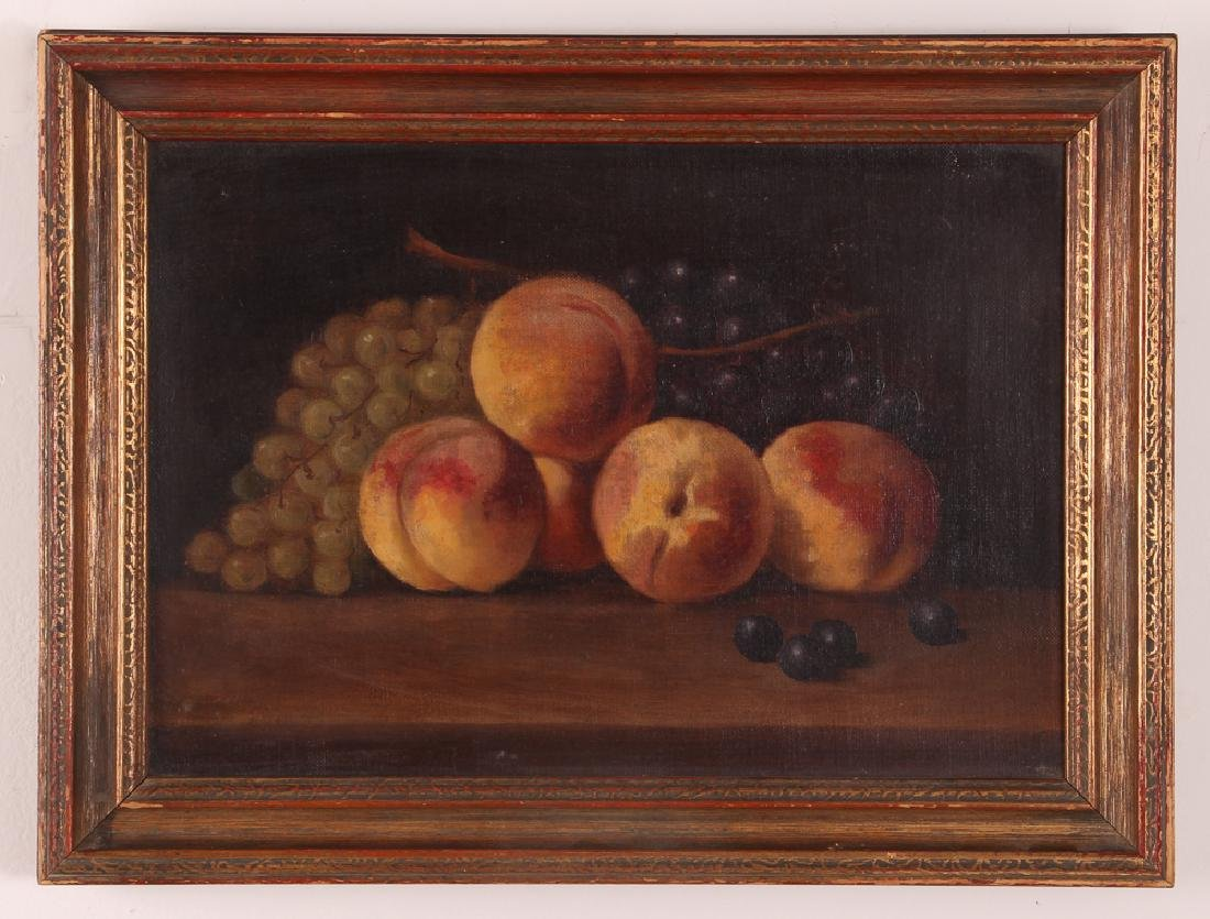 Attrib. A. F. King Still Life with Nectarines Painting - 2