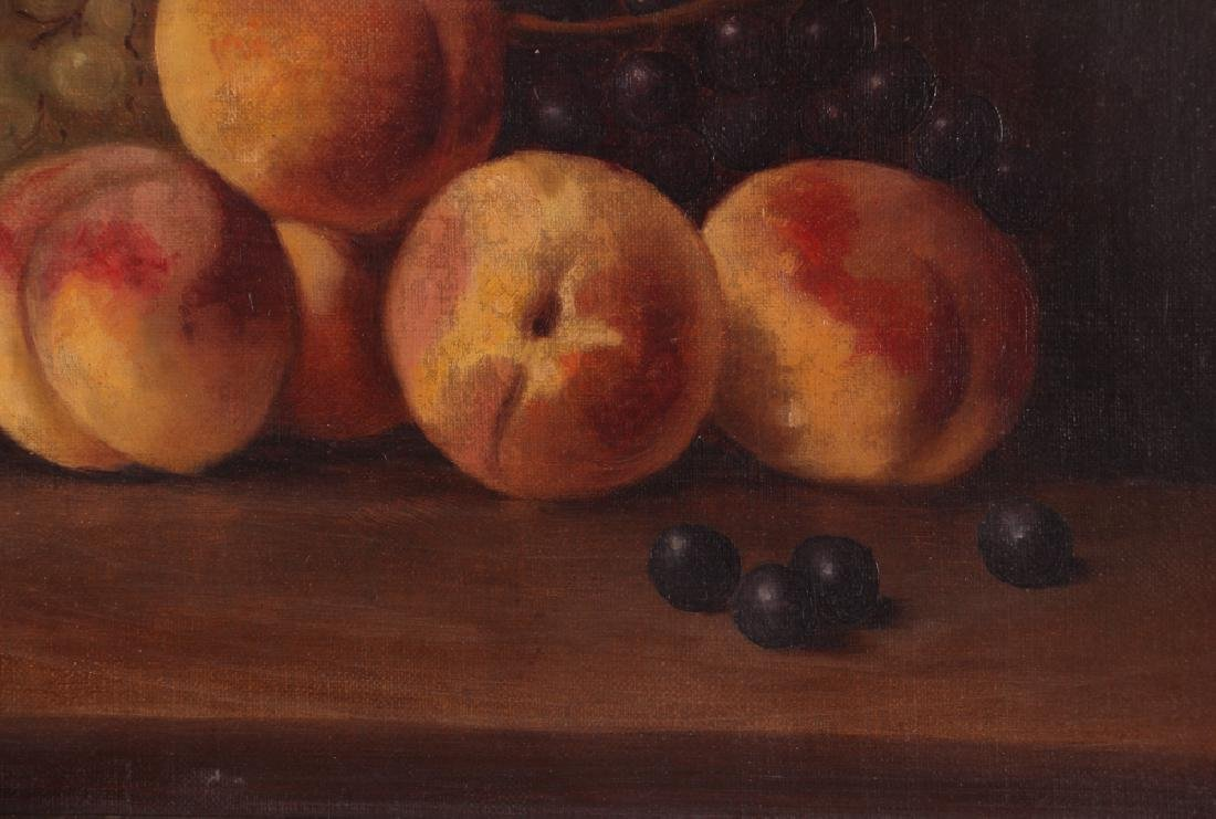 Attrib. A. F. King Still Life with Nectarines Painting - 3