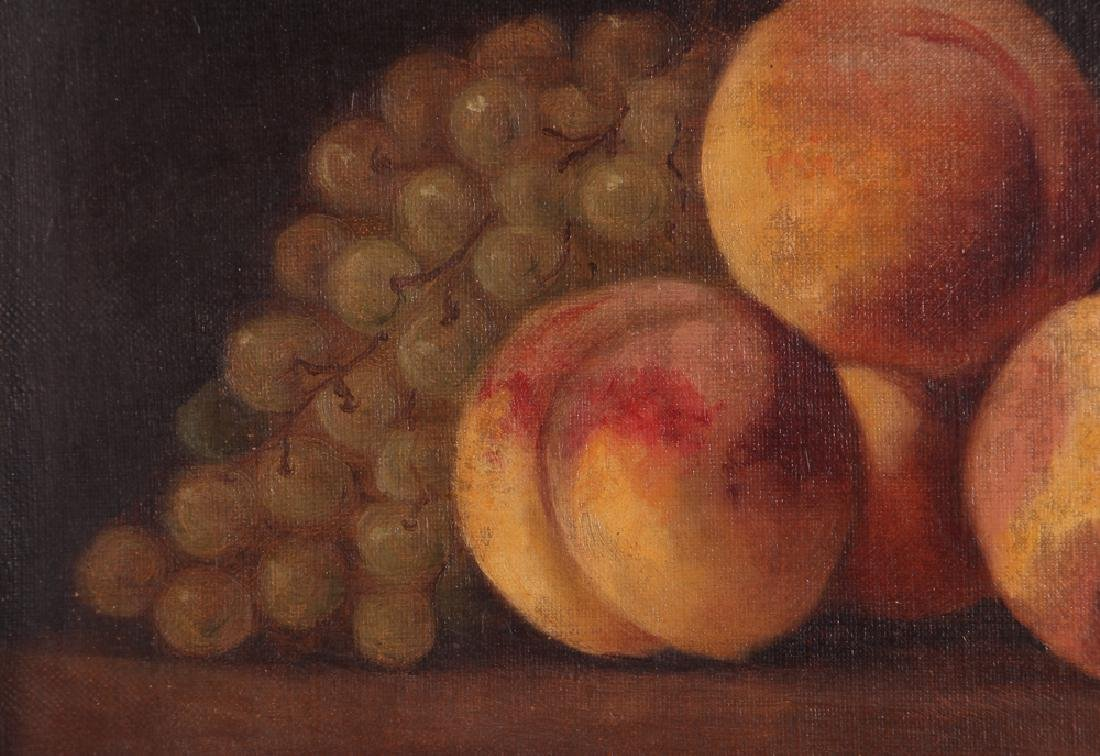 Attrib. A. F. King Still Life with Nectarines Painting - 4