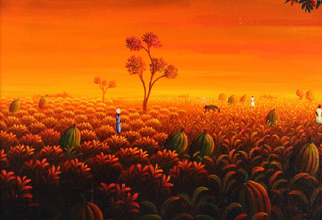 Janet Sanon 1990 Field with Large Melons at Twilight - 6
