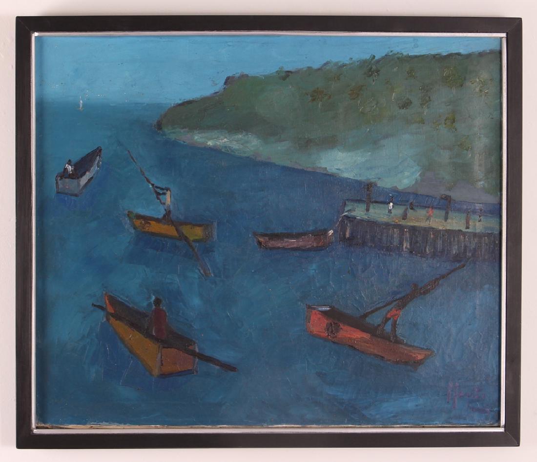 Manes Descollines Haitian Painting