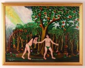Celestin Faustin Adam and Eve Painting